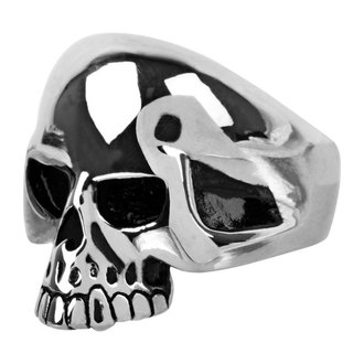 anello INOX - skull w/teethout, INOX