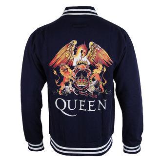 felpa senza cappuccio uomo Queen - Crest - ROCK OFF, ROCK OFF, Queen