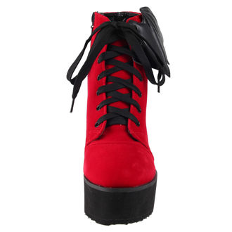 scarpe con cuneo donna - Bat Wing Boot Red Velvet - IRON FIST, IRON FIST