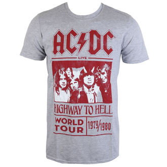 t-shirt metal uomo AC-DC - Highway To Hell World Tour 1979/80 - ROCK OFF - ACDCTTRTW01MG