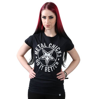 t-shirt hardcore donna - Pentagram - METAL CHICKS DO IT BETTER, METAL CHICKS DO IT BETTER