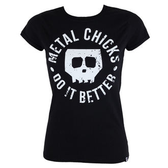 t-shirt hardcore donna - Skull - METAL CHICKS DO IT BETTER