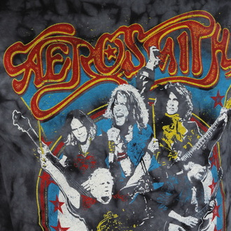 t-shirt metal uomo Aerosmith - Group Shield - BAILEY, BAILEY, Aerosmith