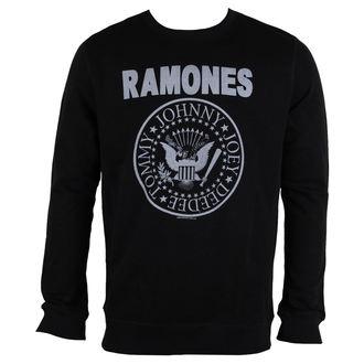 felpa senza cappuccio uomo Ramones - LOGO - AMPLIFIED, AMPLIFIED, Ramones