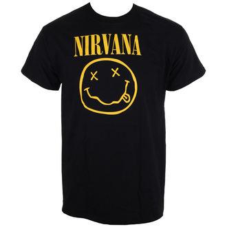 t-shirt metal uomo Nirvana - Smiley Logo - LIVE NATION, LIVE NATION, Nirvana