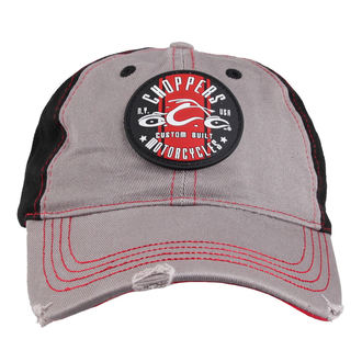 berretto ORANGE COUNTY CHOPPERS - Round Logo - Nero / Rosso / Grigio, ORANGE COUNTY CHOPPERS