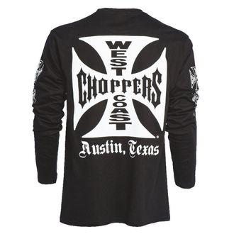 t-shirt uomo - WCC OG CROSS LONG SLEEVE - West Coast Choppers, West Coast Choppers