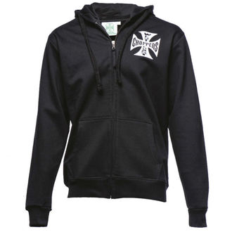 felpa con capuccio uomo - Iron Cross Hoodie Zip - West Coast Choppers, West Coast Choppers