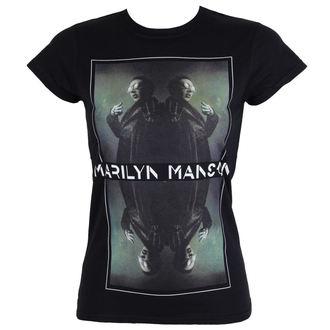 t-shirt metal donna Marilyn Manson - Mirrored - ROCK OFF, ROCK OFF, Marilyn Manson