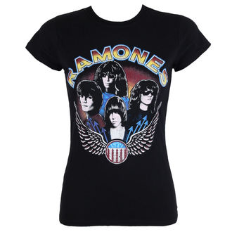 t-shirt metal donna Ramones - Vintage Wings - ROCK OFF, ROCK OFF, Ramones