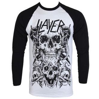 Maglietta uomo con lungo maniche Slayer - Skulls Raglan - ROCK OFF, ROCK OFF, Slayer