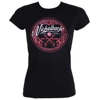 t-shirt metal donna Nickelback - PINK LOGO CIRCLE - PLASTIC HEAD, PLASTIC HEAD, Nickelback