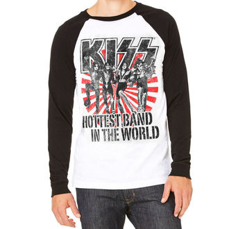 t-shirt metal uomo Kiss - Hottest Band In The World - HYBRIS, HYBRIS, Kiss