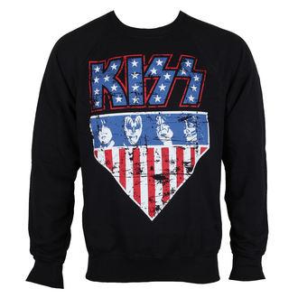 felpa senza cappuccio uomo Kiss - Stars & Stripes - HYBRIS, HYBRIS, Kiss