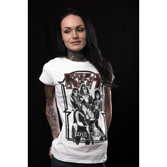 t-shirt metal donna Kiss - I Love It Loud - HYBRIS, HYBRIS, Kiss