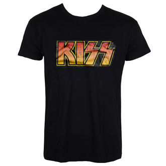 t-shirt metal uomo Kiss - Distressed Logotype - HYBRIS, HYBRIS, Kiss