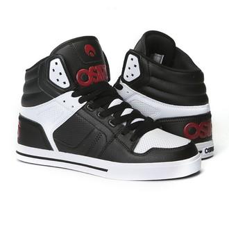 scarpe da ginnastica alte donna unisex - Clone Black/Red/White - OSIRIS, OSIRIS