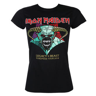 t-shirt metal donna Iron Maiden - Legacy of the Beast European Tour 2018 - ROCK OFF, ROCK OFF, Iron Maiden