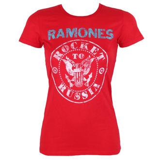 t-shirt metal donna Ramones - ROCKET RUSSIA - BRAVADO, BRAVADO, Ramones