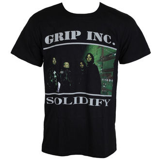 t-shirt metal uomo Grip Inc. - Solidify - MASSACRE RECORDS, MASSACRE RECORDS, Grip Inc.