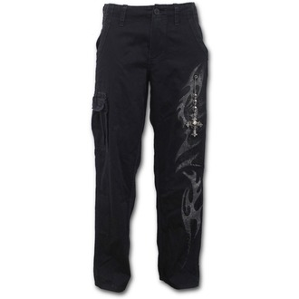 pantaloni uomini SPIRAL - TRIBAL CHAIN - Nero, SPIRAL