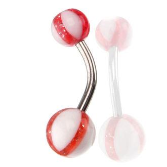 piercing gioiello - bianca / Rosso, NNM