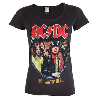 t-shirt metal donna AC-DC - ACDC - AMPLIFIED, AMPLIFIED, AC-DC