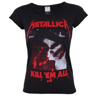 t-shirt metal donna Metallica - METALLICA - AMPLIFIED, AMPLIFIED, Metallica