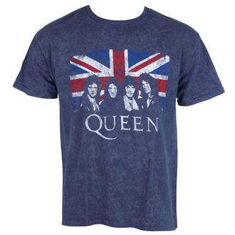 t-shirt metal uomo Queen - Denim - ROCK OFF, ROCK OFF, Queen