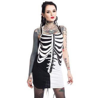 vestito donna Heartless - FRACTURE - NERO / BIANCA, HEARTLESS