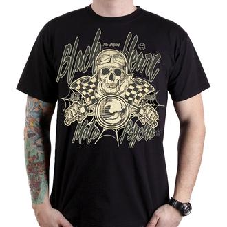 t-shirt street uomo - MOTO PSYCHO - BLACK HEART, BLACK HEART