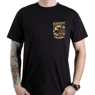 t-shirt street uomo - GAMBLE - BLACK HEART, BLACK HEART
