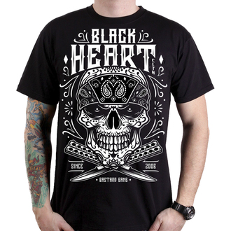 t-shirt street uomo - BANDANA SKULL - BLACK HEART, BLACK HEART