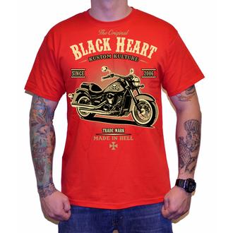 t-shirt street uomo - HARLEY - BLACK HEART, BLACK HEART
