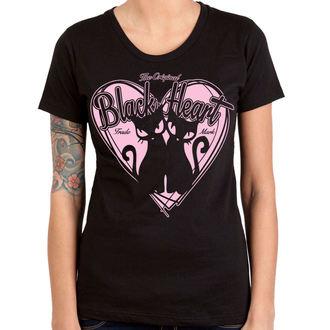 t-shirt street donna - PUSSY CATS - BLACK HEART, BLACK HEART