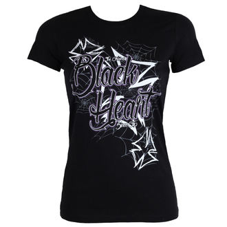 t-shirt street donna - CROSS - BLACK HEART, BLACK HEART