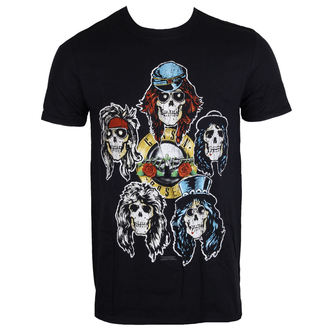 t-shirt metal uomo Guns N' Roses - Vintage Heads - ROCK OFF, ROCK OFF, Guns N' Roses