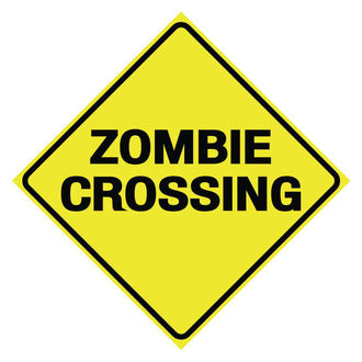 segnale Zombie Crossing