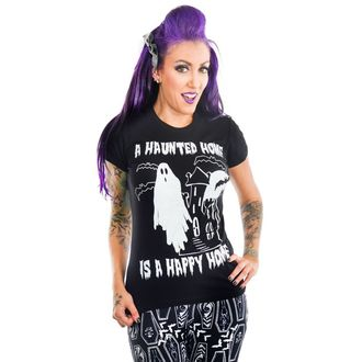 T-shirt gotica e punk donna - HAUNTED HOUSE - TOO FAST, TOO FAST