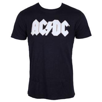 t-shirt metal uomo AC-DC - Logo & Angus Applique Slub - ROCK OFF, ROCK OFF, AC-DC