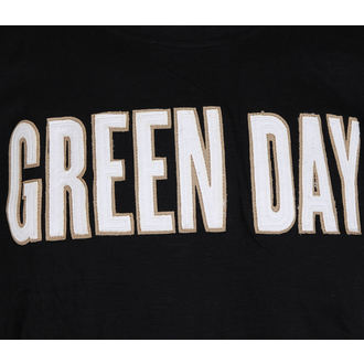 t-shirt metal uomo Green Day - Logo & Grenade Applique Slub - ROCK OFF, ROCK OFF, Green Day