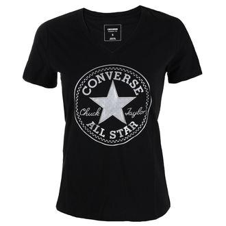 t-shirt street donna - Metallic Chuck Patch Vneck - CONVERSE, CONVERSE