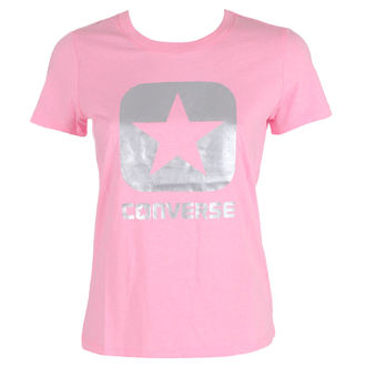 t-shirt street donna - Metallic Boxstar - CONVERSE, CONVERSE