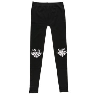 Pantaloni da donna (leggings) WALLS OF JERICHO - DIAMONDS - Nero - RAGEWEAR, RAGEWEAR, Walls of Jericho