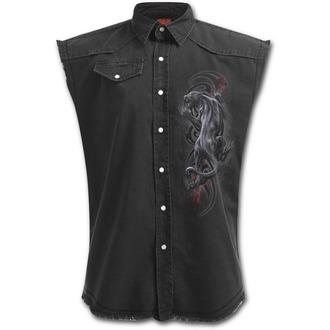 camicia uomini senza maniche SPIRAL - TRIBAL PANTHER - Nero, SPIRAL