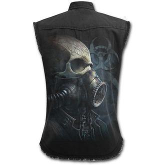 camicia uomini senza maniche SPIRAL - BIO-SKULL - Nero, SPIRAL