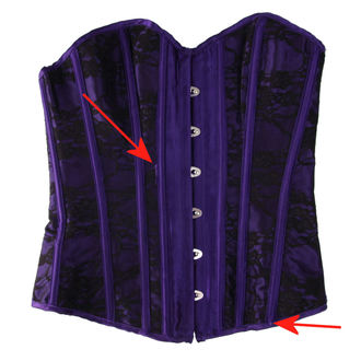 corsetto da donna HEARTS AND ROSES - Black Purple - DANNEGGIATO, HEARTS AND ROSES
