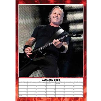 Calendario per l'anno 2021 - Metallica, NNM, Metallica