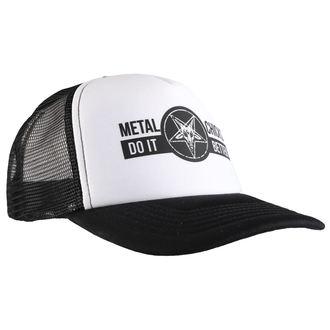 berretto METAL CHICKS DO IT BETTER - BAPHOMET - Logo - WHT & NERO, METAL CHICKS DO IT BETTER