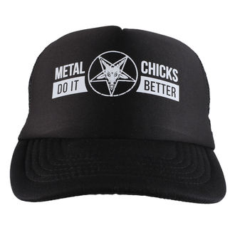 berretto METAL CHICKS DO IT BETTER - Baphomet - Logo - Nero, METAL CHICKS DO IT BETTER